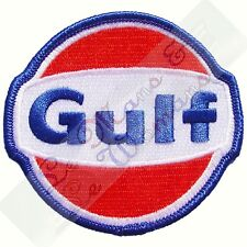 """Gulf Oil Embroidered Cloth Emblem Badge Patch Large 15cm/6"""""""