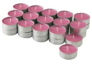 Pack of 6 Tea Lights 3 Hour Long Burn Night Light Candles Sugared Plum Scented