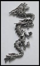 Pewter Charm #1200 Dragon 1 Bail (78mm x 32mm)