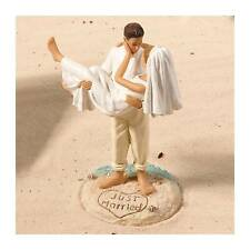 Seconds Beach Cake Topper Wedding Decorations Romantic Bride Groom Supplies