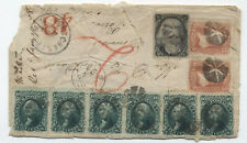 1868 Port Chester NY to Peru double weight cover 6x 10ct 1861 [y4208]