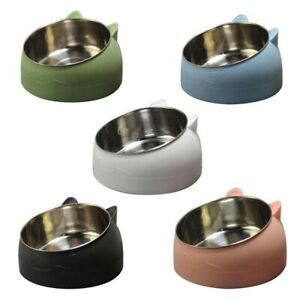 Cat Dog Bowl 15 Degrees Raised Stainless Steel Cat or Dog Bowls