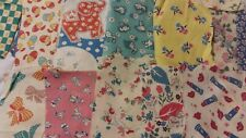 Vintage Feedsack Small Quilt Scraps 31 different Prints including Novelty