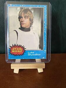 STAR WARS TOPPS 1977 #1 LUKE SKYWALKER ROOKIE CARD EXCELLENT BLUE SERIES