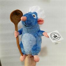 Disney Ratatouille Remy Rat with Spoon White Hat Soft Plush Toys Stuffed Doll