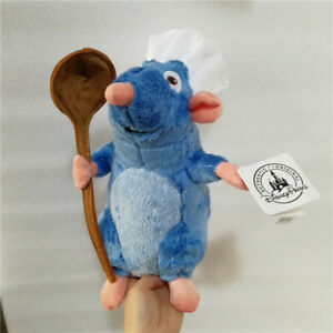 Disney Ratatouille Remy Rat with Spoon White Hat Soft Plush Toys Stuffed Doll