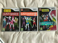 Just Dance 1, 2 & 3 / Boxed With Instructions Bundle / Nintendo WII / PAL / #2