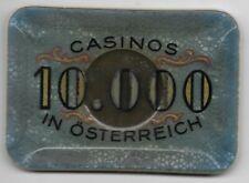 10000 Schilling Casinos in  Austria Jeton Token ----  Eiamaya
