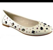 new RRP$190 ZOE WITTNER SUEDE LEATHER EMBELLISHED FLATS SHOES 40 last