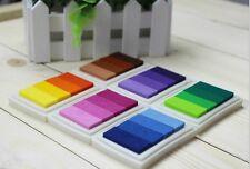 Stempelkissen Set 6 Teile Ink Pad Stempel Kissen mehrfarbig farbig 24 Farben