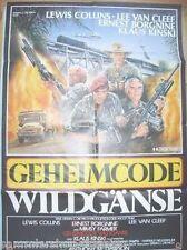 89 origin FILMPLAKAT movie poster A1 gefaltet Geheimcode Wildgänse Lee van Cleef