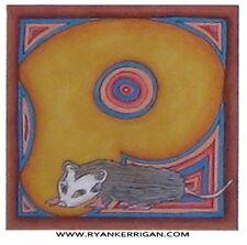 "phish alPHabet MAGNETS 2""x2"" letter P for possum( by KERRIGAN )"