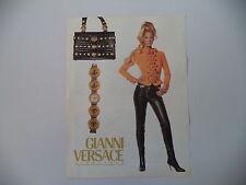 advertising Pubblicità 1992 GIANNI VERSACE