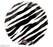"""ZEBRA PRINT Black & White All Occasion Birthday Shower 18"""" Mylar Party Balloon"""
