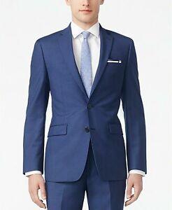 Calvin Klein Infinite Stretch Solid Slim-Fit Suit Jacket 40R Postal Blue