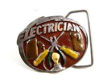 1981 Electrician Belt Buckle 5714 by Great American Buckle Co.