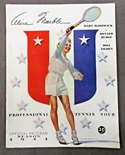 1941 PROFESSIONAL TENNIS TOUR Program book Marble Hardwick Budge Tilden