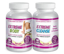 Maximum Diet Weight Loss Pills 30 Day Supply Fat Burn EXTREME BODY AND CLEANSE