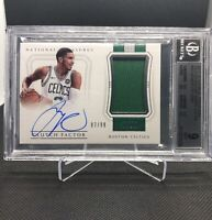 🔥2017-18 JAYSON TATUM National Treasures Rookie RC Jersey RPA BGS 9 AUTO 10 9.5