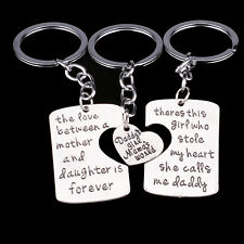 Love Mother Mom Daddy Girl Heart Family Keyrings Keychains Key Chains Ring Gifts