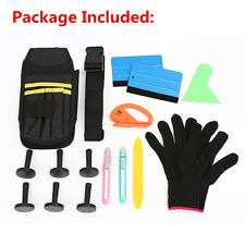 New Car Wrap Vinyl Tools Kit Cutter Squeegee Bag Razor Wrapping Gloves 6 Magnets