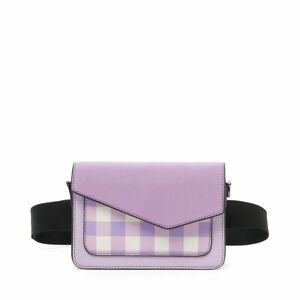 NWT Botkier Cobble Hill Woman's Leather Belt Bag, Lilac Combo - Adjustable Strap