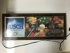 "Vintage Light Up Busch Beer Sign 33x14x2.5"" Works Great!"