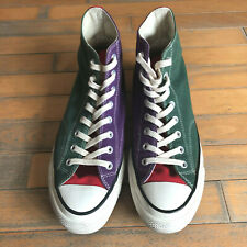 CONVERSE ADDICT CHUCK TAYLOR THREE PANELS HI FIRST STRING 1970 SIZE 10.5