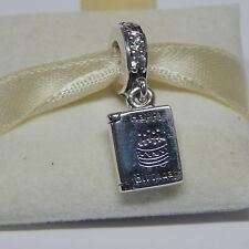 New Authentic Pandora Charm 791723CZ Birthday Wishes Card Dangle Box Included