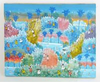 ORIGINAL HAND PAINTED OIL ON CANVAS Caribbean Tropical Seascape Painting 16x20