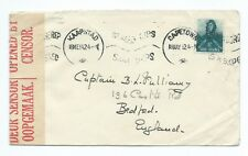 SOUTH AFRICA: Censored cover to England 1942.