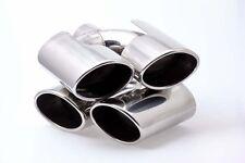 4 Rohr 90x120mm Edelstahl Endrohre Mercedes Optik  und ABE $$$