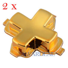 Exclusive 2pcs Chrome Gold Dpad D-pad Replacement Parts for Xbox One Controller