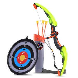 Bogenschießen Pfeil und Bogen mit Zielscheibe Leuchtend Kinderbogen Spielzeug