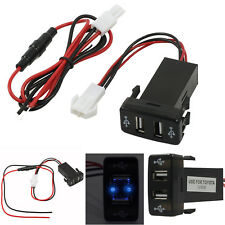 12V Twin Dual Double 2 USB Port Car Socket Lighter Charger Adapter Waterproof