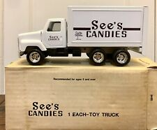 NIB Vintage 1998 See's Candies Iconic Black and White 10 inch Toy Metal Truck