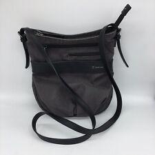 Sherpani OLSO Messenger Bag Crossbody Gray Black Medium Purse