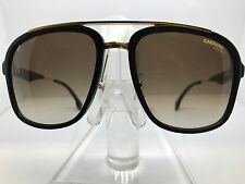 NEW CARRERA SUNGLASSES CARRERA 133/S 02M2 HA BLACK-GOLD/BROWN GRADIENT LENS