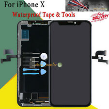 For Apple iPhone X 10 LCD Screen Black Digitizer Display Replacement 3D Touch UK