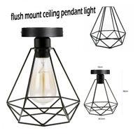 Vintage Edison Flush Mount for Hallway Lighting Ceiling Pendant Light Lampshade