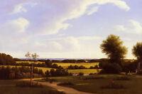 Oil painting Edvard Lehmann - an afternoon in the garden beautiful landscape art