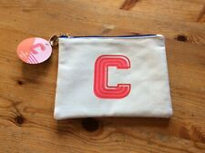 BNWT Women's Toiletry/Cosmetics Make-up Bag, Letter C