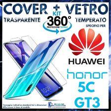 COVER TRASPARENTE + PELLICOLA VETRO TEMPERATO Per HUAWEI GT3 / HONOR 5C Custodia