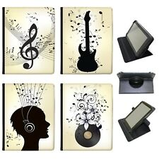 Azzumo Music Abundance With Notes In Mayhem PU Leather Case for Samsung Tablet