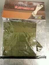 TWO BLACKHAWK SIDE PLATE CARRIERS -  POUCH + SPEED CLIPS - MOLLE  - OLIVE DRAB