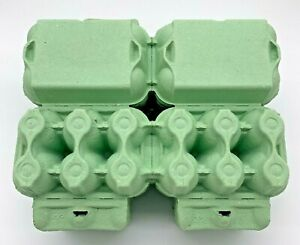 250 X NEW HALF DOZEN FLAT TOP EGG BOXES IN GREEN SUITABLE FOR MED TO LARGE EGGS