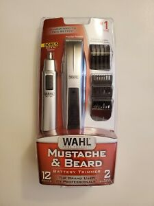 Wahl Mustache and Beard Trimmer with Bonus #5537-420 White