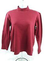 Women's Medium Red Karen Scott Long Sleeve Knit Top