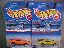 Hot Wheels 1998 First Edition Mustang Mach 1 Orange & Yellow