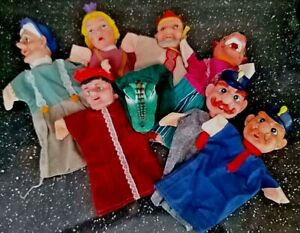Vintage hand puppets - Punch and Judy?
